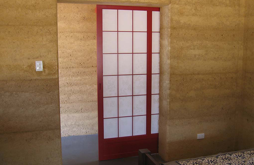 Rammed Earth With Feature Door Perth Hills